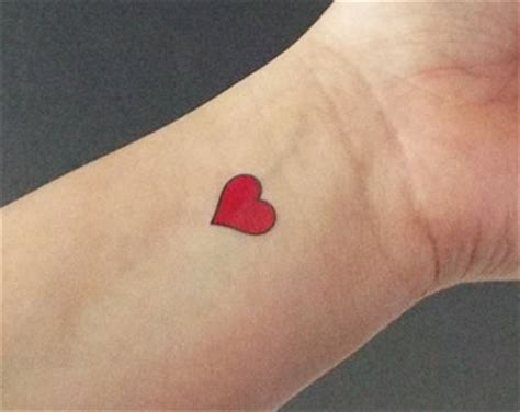 heart tattoos red red heart tattoo etsy