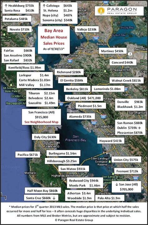 bay area home value map