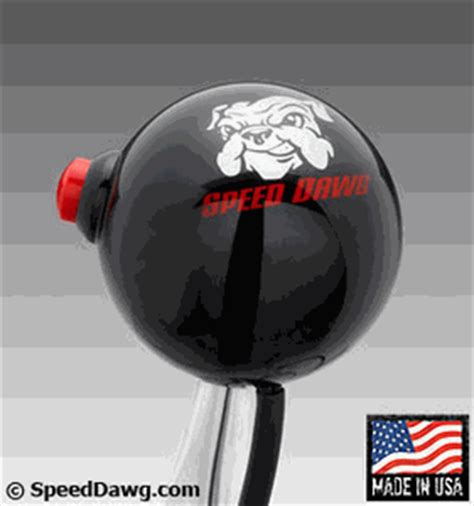 Speed Dawg Shift Knob by Speed Dawg Racing Black Shift Knob With 12 Volt Button Switch