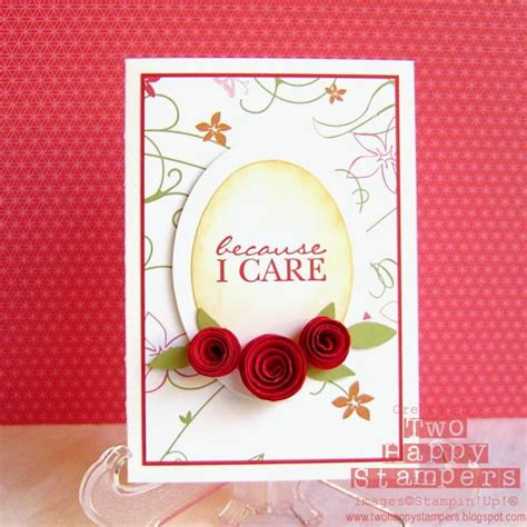Paper Roses For Card - rolled paper roses card by blondester at