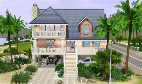 Small House Floor Plans Free by Mod The Sims Coral Reef 4 Bdr 4 Bath Beach House On