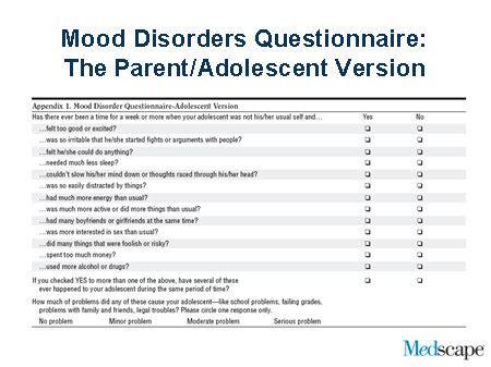 printable bipolar questionnaire comorbidity in pediatric bipolar disorders