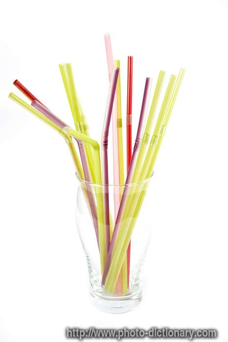 drinking straws photopicture definition  photo