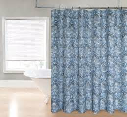 Blue And Grey Shower Curtains Slate Gray Blue Paisley Fabric Shower Curtain Ebay