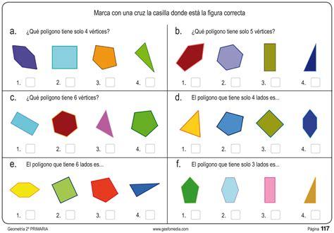 figuras geometricas para primaria fichas de geometr 237 a de segundo de primaria