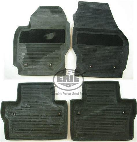 volvo oem  black rubber floor mats  volvo    ebay