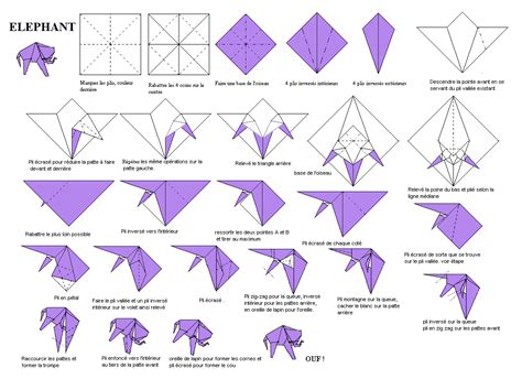 Elephant Origami Diagram - make your own origami elephant the elephant