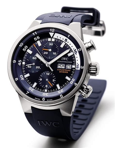 iwc dive watches iwc aquatimer chronograph cousteau divers specs pcitures