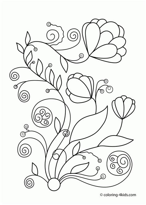 free coloring pictures of spring flowers free printable spring flowers coloring pages 458312