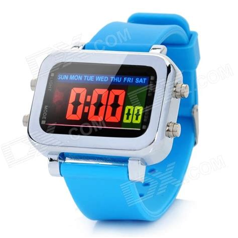 multi function water resistant colorful led digital wrist