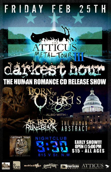 darkest hour baltimore darkest hour ticket give away dcheavymetal com