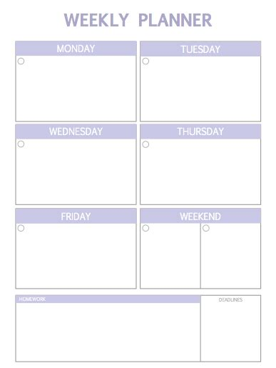 Daily Planner Template Tumblr | weekly planner printable tumblr