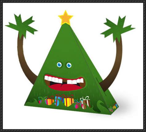 new paper model christmas papercraft fir christmas