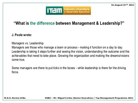 What Is The Difference Between Pmp And Mba by Itam Management Vs Leadership On August 2011