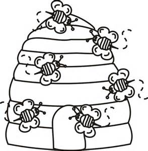 hive template beehive with bees coloring page greatest coloring book