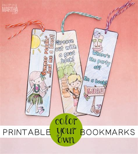 printable color your own bookmarks create coloring books from gift bags skip to my lou