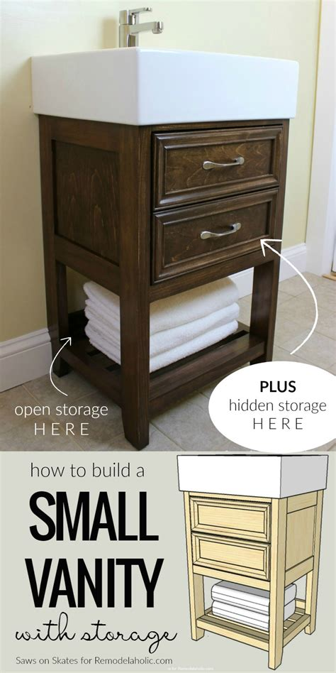 Remodelaholic Ikea Hack How To Build A Small Diy Make Bathroom Vanity