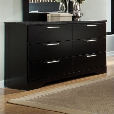 6 Drawer Black Dresser by Atlanta 6 Drawer Dresser In Black 65009