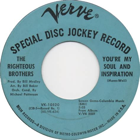 the righteous brothers youre my soul and inspiration 45cat the righteous brothers you re my soul and