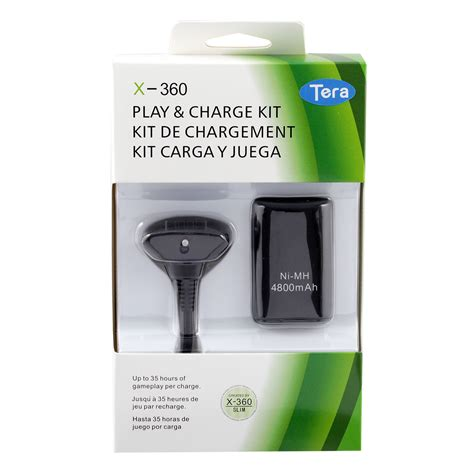 Battery Pack Xbox 360 Rechargeable 4800mah nimh rechargeable battery pack charge cable kit