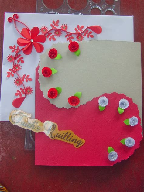 how to make birthday greetings cards at home faith s quilling birthday card
