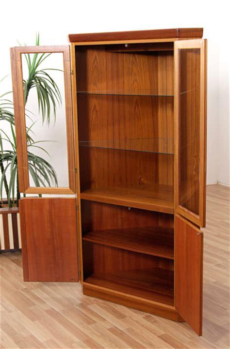 Teak China Cabinet by Vintage Skovby Teak Corner China Cabinet Modernism