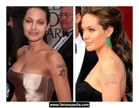 angelina jolie tattoos removed removal