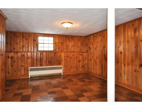hometalk painting knotty pine panelling