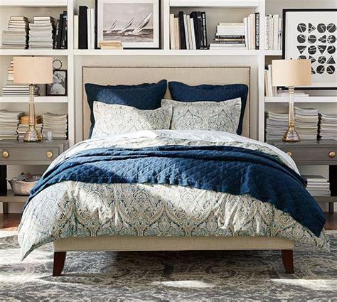 upholstered headboard pottery barn fillmore square upholstered bed headboard pottery barn