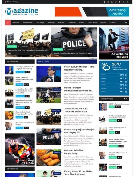 Sourcode Web Portal Kus Responsive portal berita magazine jejakjari