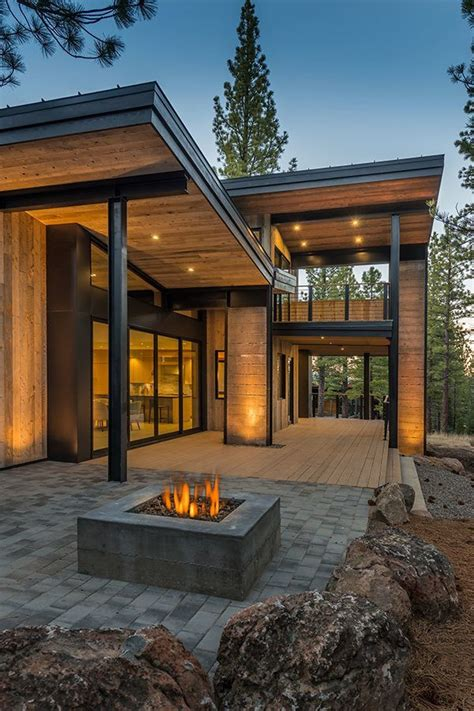 rustic contemporary homes mountain retreat blends rustic modern styling in martis c