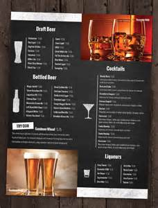 Free Bar Menu Templates by 24 Bar Menu Templates Free Sle Exle Format