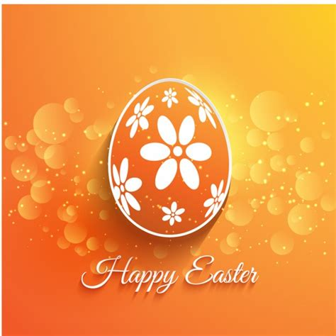 orange flat easter egg background vector free download