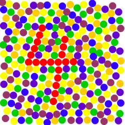 color blind chart eye experiments