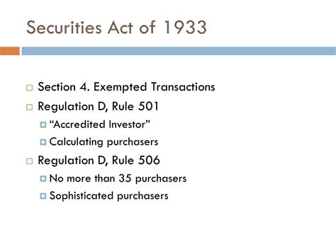 Securities Act Of 1933 Section 4 by Ppt Bernie Madoff Powerpoint Presentation Id 149577