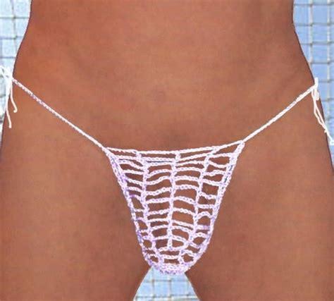 Handmade Bikinis - see through handmade mesh g string any