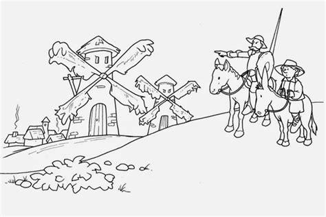 dibujos infantiles para colorear don quijote biblioteca del ceip mel 201 ndez vald 201 s dibujos para colorear