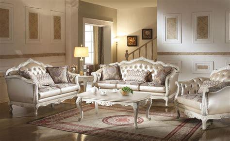 formal living room set furniture chantelle formal living room set in white