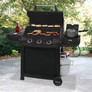 Backyard Grill 3 Burner Gas Grill With Side Burner Uniflame 46 000 Btu 3 Burner Gas Grill With Side Burner Choice Of Color Walmart