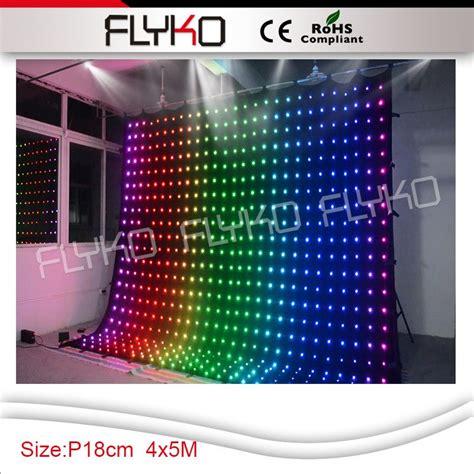 led video curtain rental p18 4x5m led rental stage flexible led video curtain