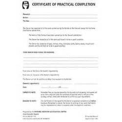 practical completion certificate template uk certificate of practical completion pad of 25