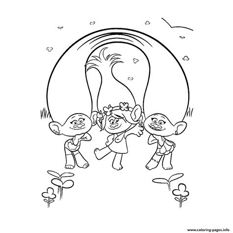 coloring page princess poppy print trolls for girls satin and chenille together with