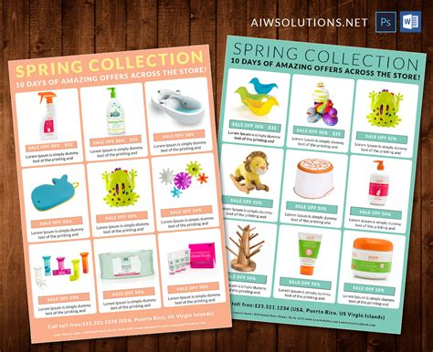 Editable Catalogproduct Sale Off Catalog Sale Off Flyer Sales Catalog Template
