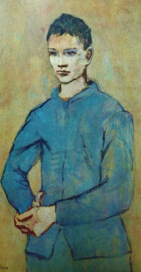Pablo Picasso A Boy In Blue 1905 Beginning Of The