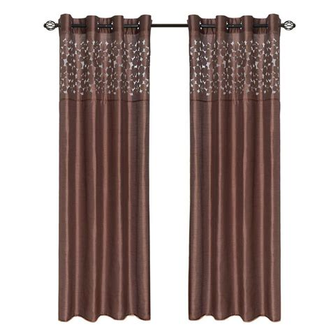 curtains 95 length lavish home taupe sofia grommet curtain panel 95 in