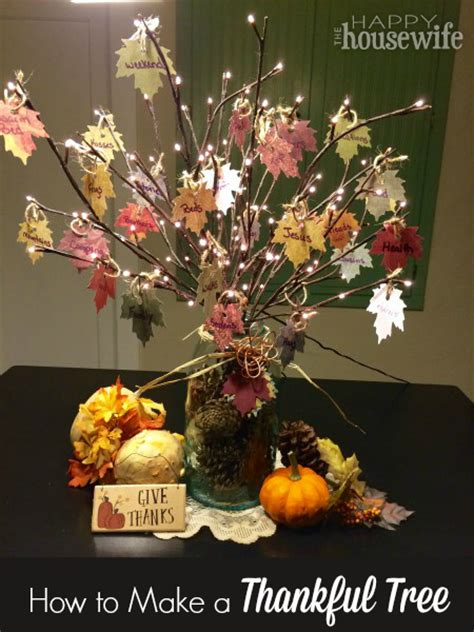 how to make a real tree how to make a thankful tree the happy housewife home