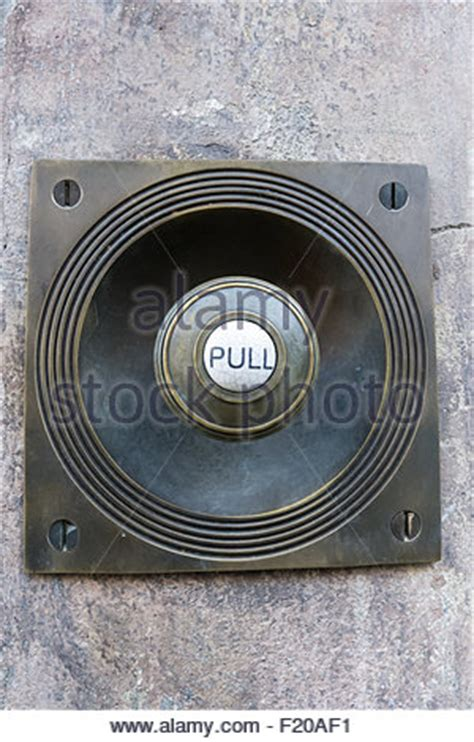 Fashioned Door Bell by Fashioned Brass Door Bell Intercom On A Wall Stock