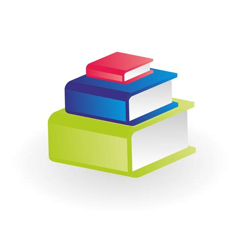 3 of a books vector for free use three books vector