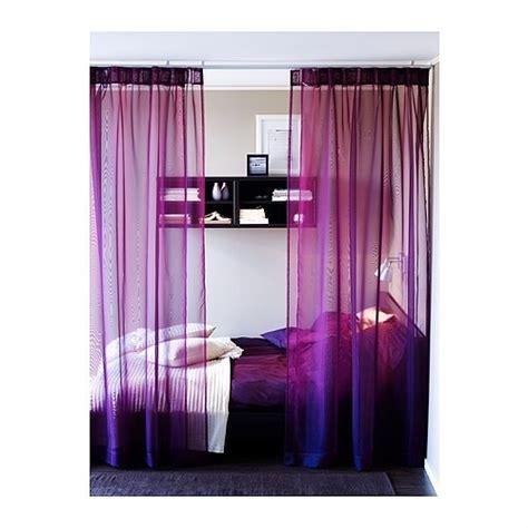 Purple Curtains Ikea Decor Fab Ikea Sheer Voile Curtains Purple Blue Pink Black Ebay