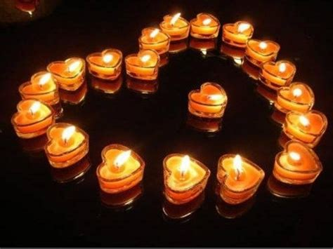 beautiful  romantic candles  valentines day